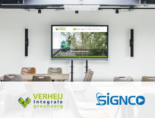 Signco Audiovisueel verzorgt AV en ICT integratie bij Verheij Integrale Groenzorg