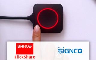 Draadloos presenteren met de Barco Clickshare conference serie