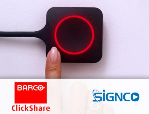 Eenvoudig met één druk op de knop draadloos delen en presenteren met de nieuwe oplossingen van Barco ClickShare