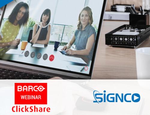 Uitnodiging gratis BarcoClickShare Experience Webinar
